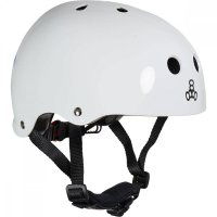 Triple 8 LIL8 verstellbarer Kinder-Skatehelm White Gloss