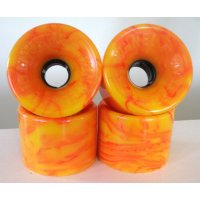 Tunnel Wheels TARANTULA (4er Set) 70mm/84a Orange