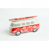 VW T1 Surf Bulli Spardose Hawaii Rot