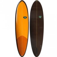 Venon 72 Egg Tinted Orange Single Fin Glassboard