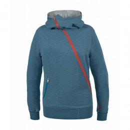SchwerelosigKite Zip Hood Twisted Greyblue Melange