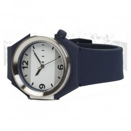 neff Stripe Watch Uhr Navy Silver