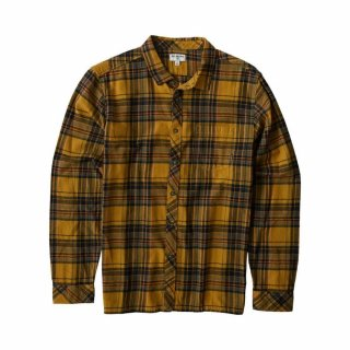 Billabong Coastline Flannel Shirt Gold S