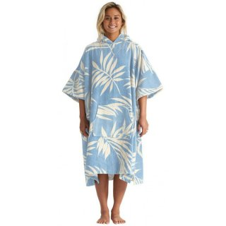 Billabong Poncho Hooded Towel Blue Palms