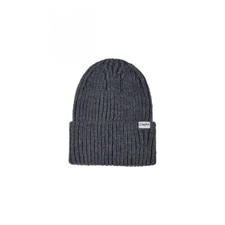 Cleptomanicx Beanie Bigger Ribber Phantom Black