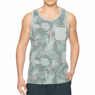 Hurley Tank Top Printed Pocket Tank Dark Grey Heather L