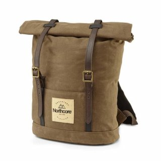 Northcore Waxed Canvas Back Pack Chocolate